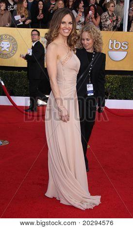 Los Angeles jan 30: Hilary Swank kommt, in der die Sag awards 2011 am 30 Januar 2011 in Los ein