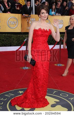 LOS ANGELES - JAN 30:  Tina Fey arrives at the the SAG Awards 2011 on January 30, 2011 in Los Angeles, CA