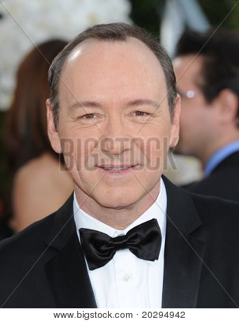 LOS ANGELES - JAN 16:  Kevin Spacey arrives to the 68th Annual Golden Globe Awards  on January 16, 2011 in Beverly Hills, CA