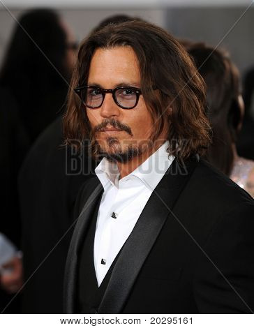 LOS ANGELES - JAN 16:  Johnny Depp arrives to the 68th Annual Golden Globe Awards  on January 16, 2011 in Beverly Hills, CA