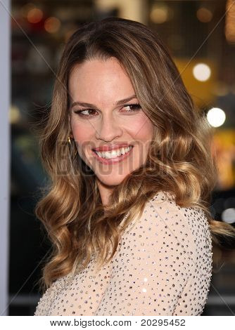 "LOS ANGELES - MAY 03:  Hilary Swank arrives to the ""Something Borrowed"" World Premiere  on May 03,2011 in Hollywood, CA"