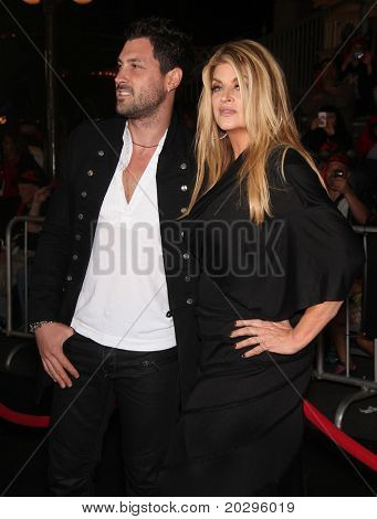"LOS ANGELES - MAY 07:  Maksim Chmerkovskiy & Kirstie Alley arrives to the ""Pirates of the Caribbean: On Stranger Tides"" World Premiere  on May 7, 2011 in Anaheim, CA"