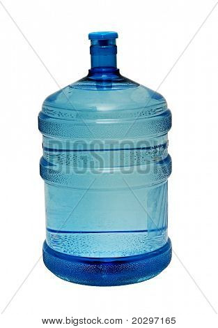 Bottle with water isolated on white background. The provision of clean drinking water. Isolated on a white background.
