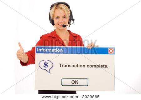 freundliche Tele-Banking-operator