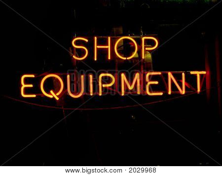 Neon Equipment Sign