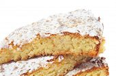 image of torta  - some pieces of Tarta de Santiago - JPG