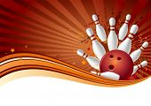 Bowling-Sport-Design-Element, abstrakt