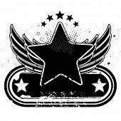 Постер, плакат: векторные иллюстрации звезда и крылья