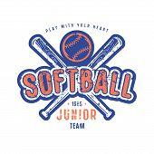 Emblem Of Softball Junior Team poster