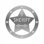 picture of criminology  - Sheriff abstract badge - JPG