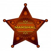 pic of criminology  - Marshal abstract badge - JPG