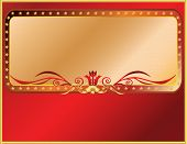 pic of pompous  - Vector solemn red and gold frame - JPG