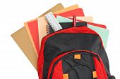 Backpack With School Material poster