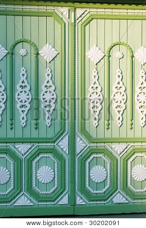 Carved Green Gate