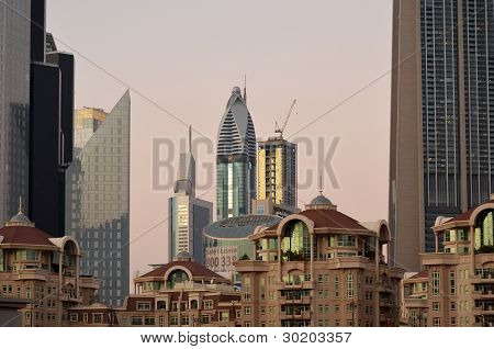 Sunset in Dubai - Editorial Use