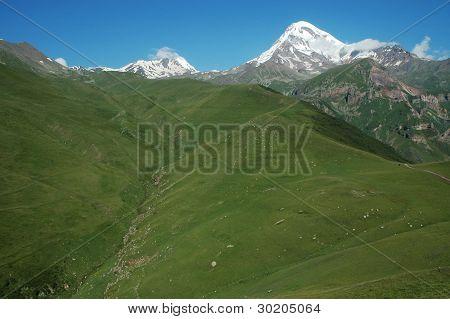 Mount Kazbek, Caucasus, Georgia