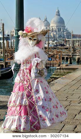 Flower Mask At Gondola's Docks