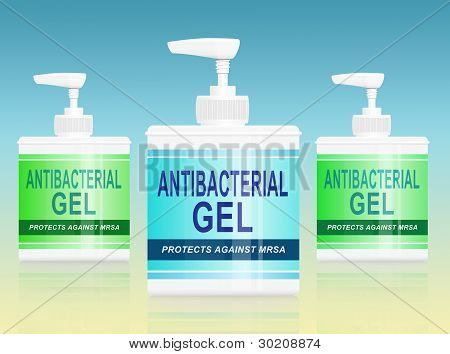 Antibacterial Gel Dispenser.