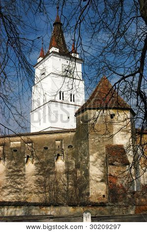 Fortified church of Harman (Honigberg, Szaszhermany) in Transylvania, Romania. UNESCO heritage