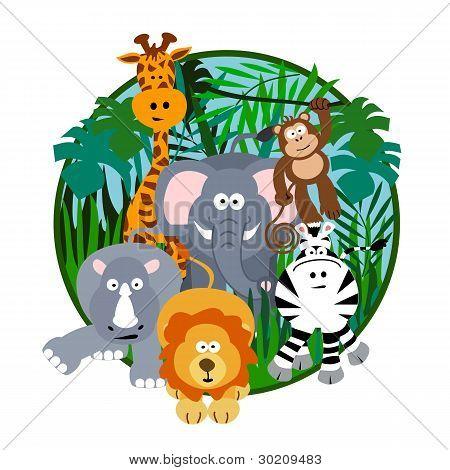 Cute Safari Cartoon