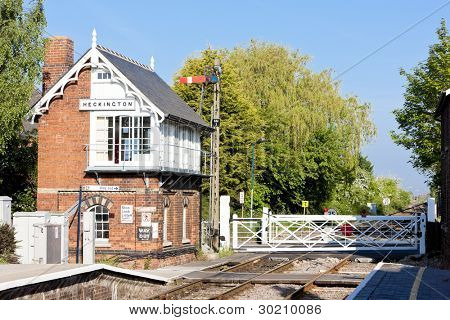 railway museum and railway station, Heckington, East Midlands, England