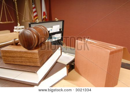 Busy Moment In A Courtroom