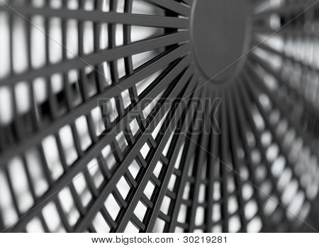 Large Industrial Fan Close-up