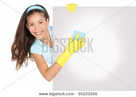 Cleaning Woman Sign