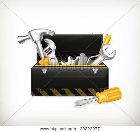 Caixa de ferramentas preta, 10eps