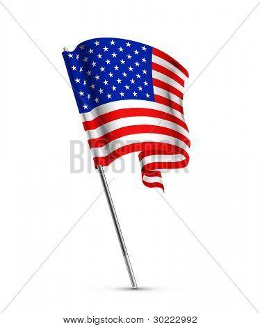 Bandeira americana, vetor