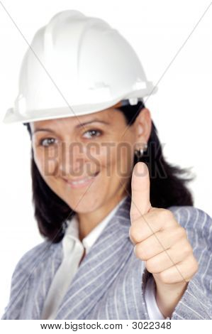 Woman Whit Thumb Up