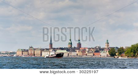 Stockholm City Viewed From The Water