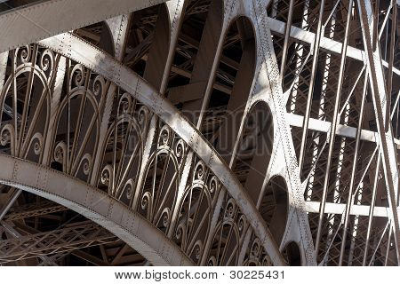 Eiffel Tower Detail Of Classic Pattern