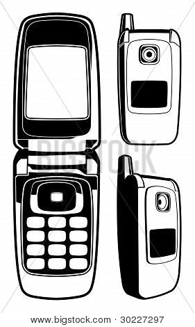 Vector Cell Phone in One Color