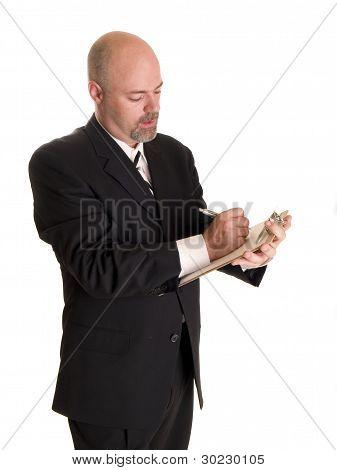 Fashion - Men - Businessman Clipboard Notes