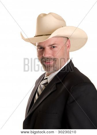Friendly Cowboy Businessman