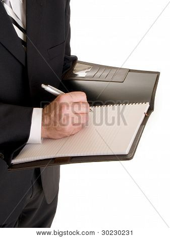 Hands - Businessman Taking Notes