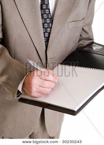 Fashion - Men - Businessman Taking Notes