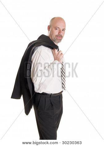 Businessman - Relaxed Coat Over Shoulder