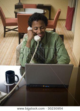 Business Trip - Happy Laptop Man