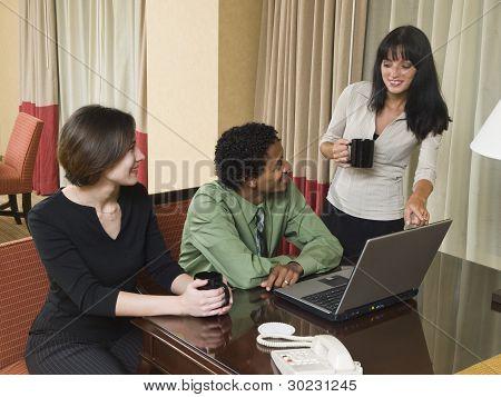 Business Trip - Happy Laptop Team