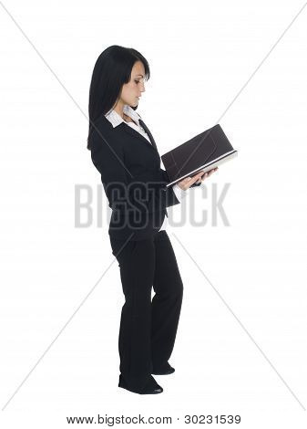 Businesswoman - Reading Side