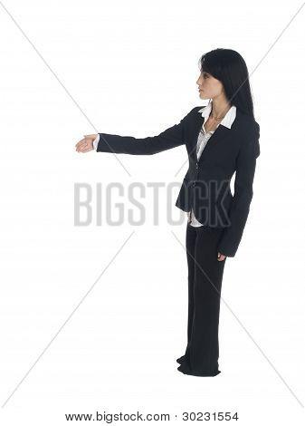 Businesswoman - Side Handshake
