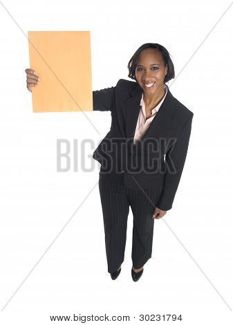 Businesswoman - Letter Received