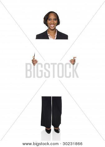 Businesswoman - Blank Sign