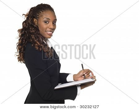 Businesswoman - Taking Notes
