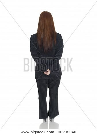 Businesswoman - Back Hands Clasped