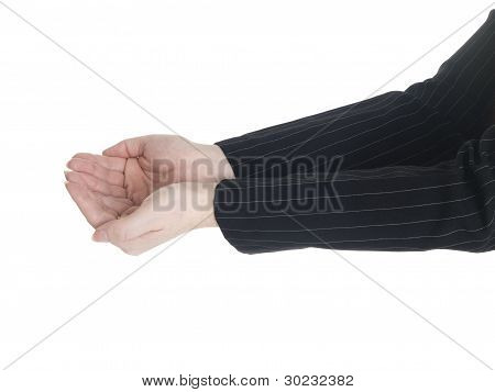 Businesswoman - Cupped Hands Side