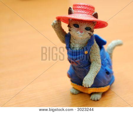 Toy Garden Cat