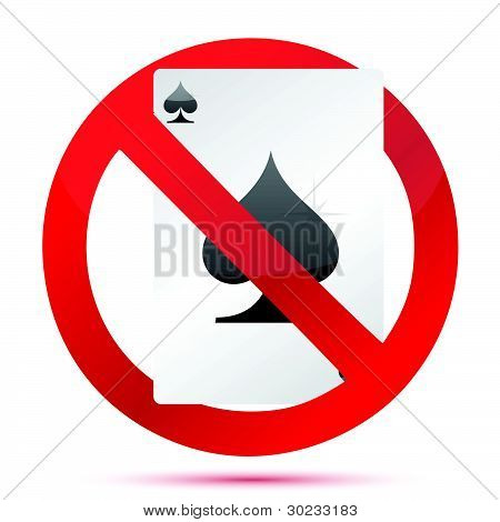 no gambling sign illustration design over white background